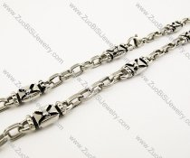 20.80 inch long Stainless Steel Biker Necklace -JN170012