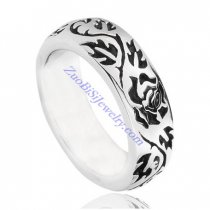 Flower Ring in Stainless Steel Metal -JR350235