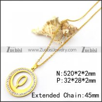 Golden O Pendant Chain for Women n001704