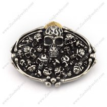 Allover skulls heads Belt Buckle bu000046