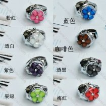 Silver Jelly Stone Flower Ring Watch - PW000019