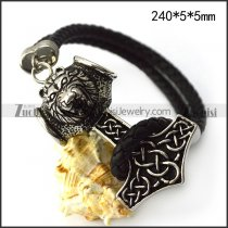 Tiger Hammer Genuine Leather Bracelet b006305