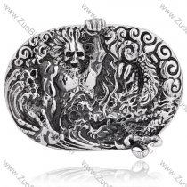 Titanium the King of Terrors Belt Buckle for Punk Mens -JZ350009