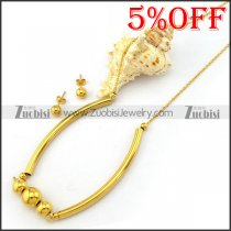 Gold Plating Necklace Set s001924