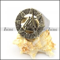 Stainless Steel Viking Ring r004827