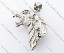 Stainless Steel Wolf Pendant - JP420039