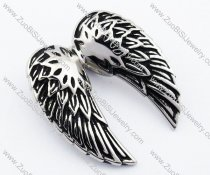 Black oil Stainless Steel Wing Pendant-JP330053