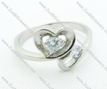 JR220027 heart Wedding Ring in Steel