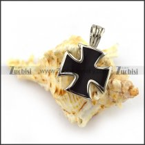 2.5CM Small Black Epoxy Cross Pendant with Solid Buckle p004018