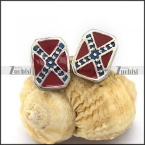 Flag Design Earring for Bikers e001185
