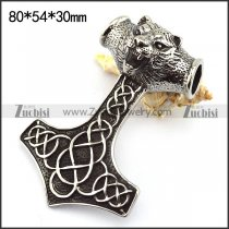 Tiger Hammer Pendant in 8cm Long p003749