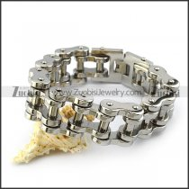 Heavy Stainless Motorbike Chain Bracelet in 25MM Wide b005405