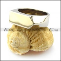 silver white stainless steel blank signet ring r004694