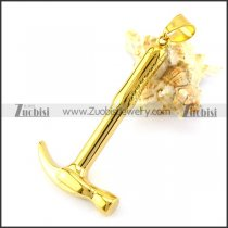 Gold-plated Hammer Pendant p006117