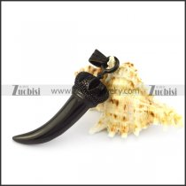 Stainless Steel Horn with Black Plated in 4.4cm Long p005516