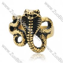 Stainless Steel The snake Ring - JR350177