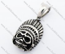 Stainless Steel American Indian Pendant - JP420010