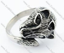 Stainless Steel Wolf Ring -JR330056