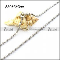 0.3CM Silver Stainless Steel Ball Chain n001521