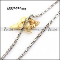4MM Wide Stainless Steel Box Chain in 600MM Long n001525
