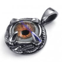 Wicked Eye Stainless Steel Pendant with Dragon Claw -JP450004