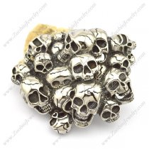 Mens Belt Buckle Designed by Multi Skulls bu000044