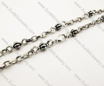 Punk Stainless Steel Pumpkin Ball  Necklace -JN170006