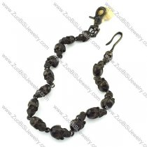 only 3pcs in Wholesale Black Stainless Steel Skull Jean Chain -y000003
