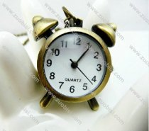 Vintage Brass Clock Pocket Watch for Girls PW000273