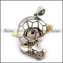 Stainless Steel Soccer Pendant for Football fans p004737