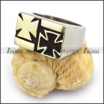 Double Iron Cross Ring r003674
