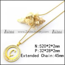 C Aaphabet Pendant Chain in Gold Plating n001692