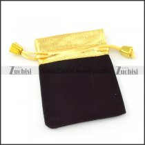 Black Velvet Bag with Golden Opening pa0047