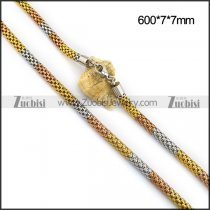 3 Tones 7MM Net Chain in Stainless Steel n001101