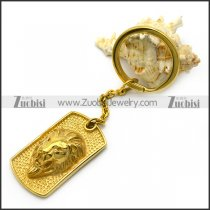 Golden Lion Tag Key Chain k000027