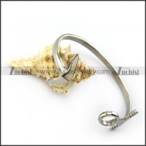 Silver Stainless Steel Anchor Cuff b005411