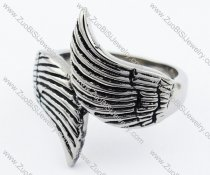 Stainless Steel Wing Ring -JR330029