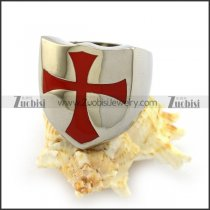 Red Cross Stainless Steel Ring r003753