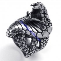 stainless steel biker rings with snake shaped -JR350266