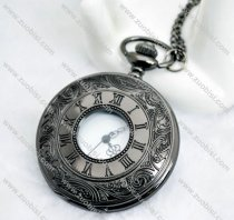 Gun Metal Roman Pocket Watch -PW000291