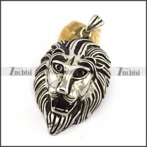 Large Stainless Steel Lion Head p002987