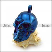 Big Blue Plating Skull Pendant p004724