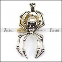 Silver Stainless Steel Spider Pendant p003286