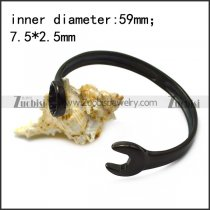 black stainless steel casting spanner bangle b007008