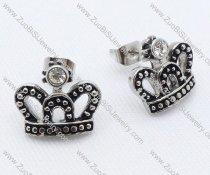 Crown Stainless Steel earring - JE050035
