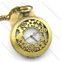 rabbit and key pocket watches with chains pw000409