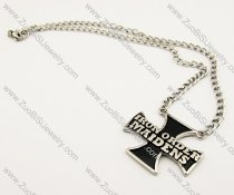 Stainless Steel Iron Cross Necklace -JN170001