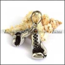 29mm Big Stainless Steel Pair of Boxing Gloves Pendant p003797
