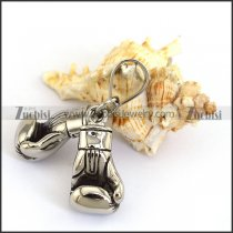 Pair of Boxing Gloves Pendant for Champion in Stainless Steel p003796