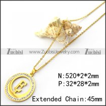 Golden O Link Chain with Initial E n001694